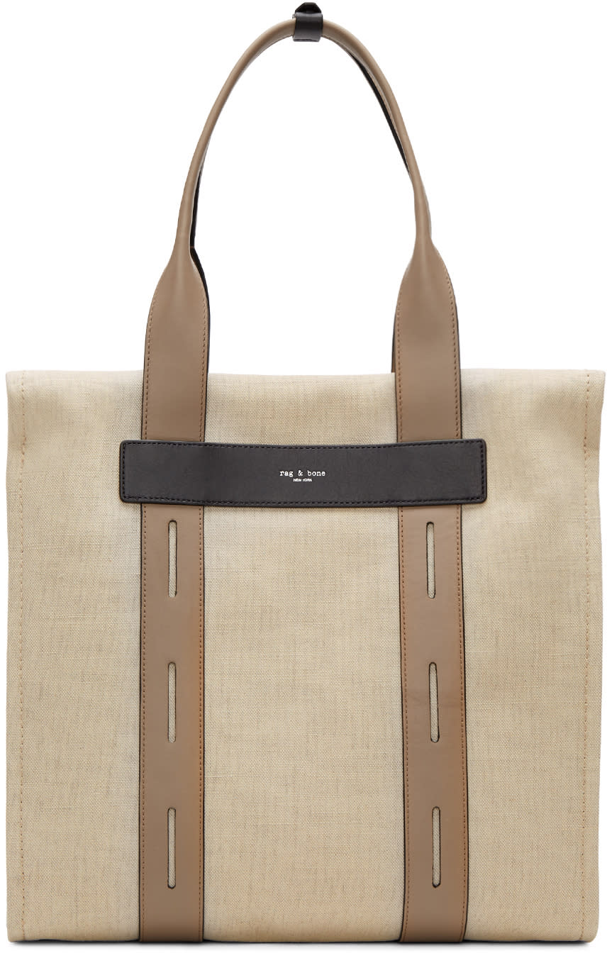 Rag and Bone Beige Summer Friday Tote