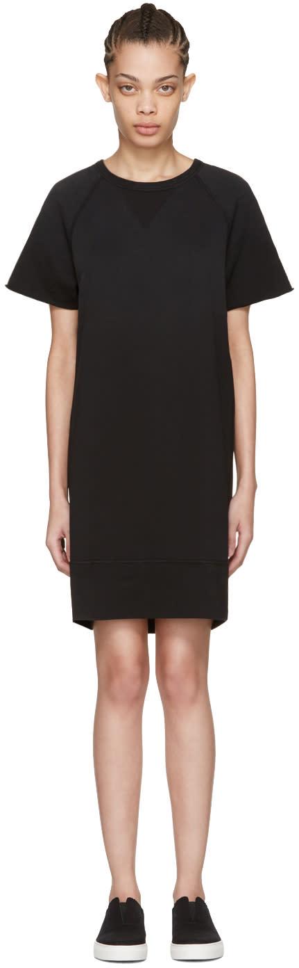 Rag and Bone Black Washed Terry Dress