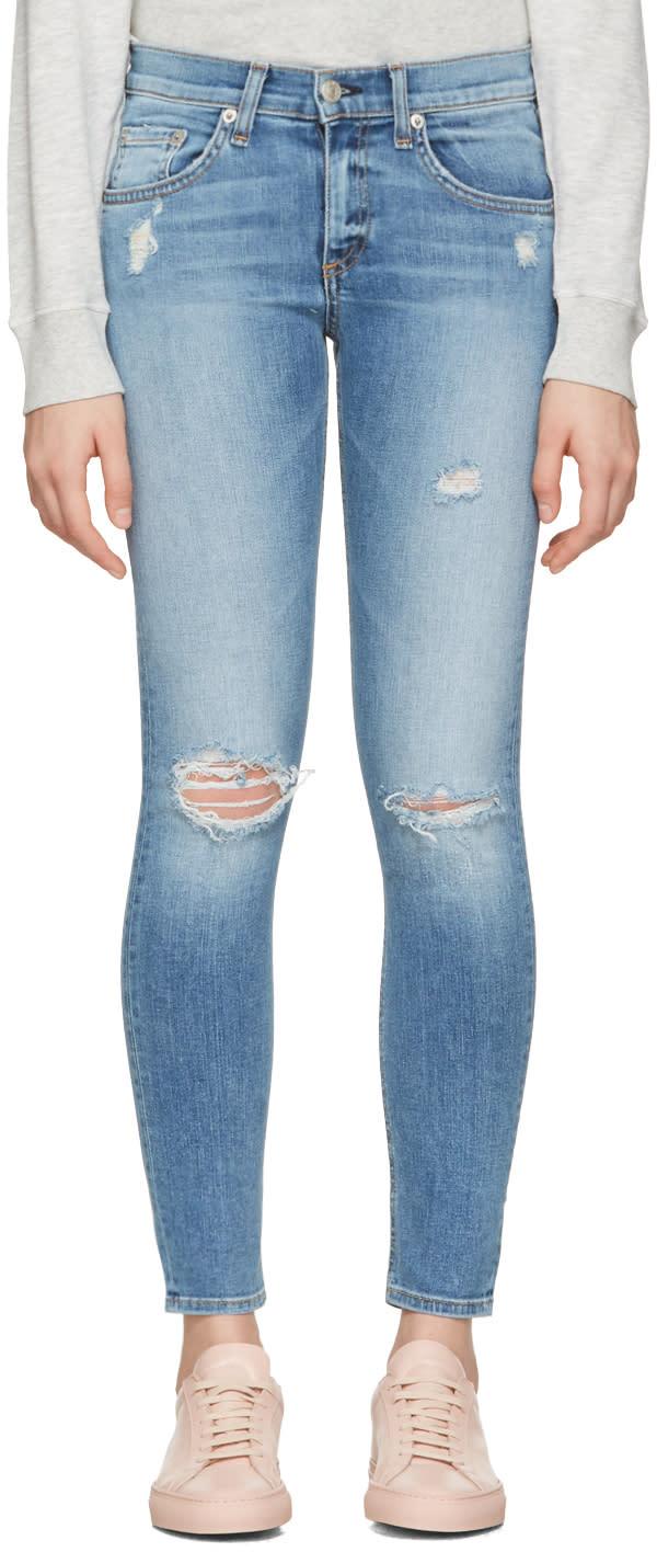 Rag and Bone Indigo Capri Jeans