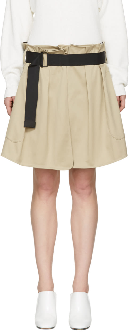 Image of Rag and Bone Beige Chapman Culottes