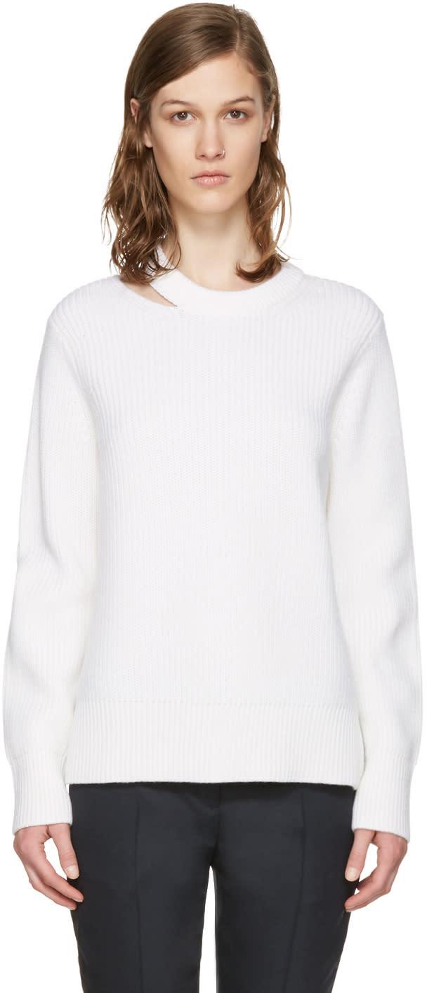 Rag and Bone White Ginnie Cut-out Sweater
