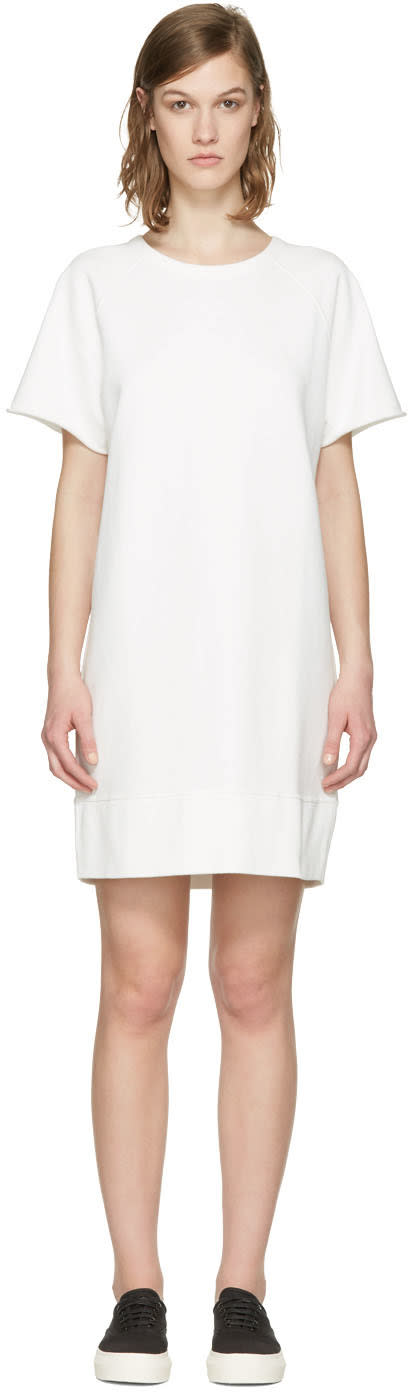 Rag and Bone White French Terry Pullover Dress
