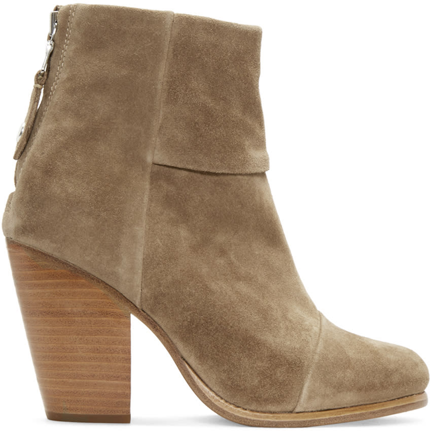 Rag and Bone Brown Suede Classic Newbury Boots