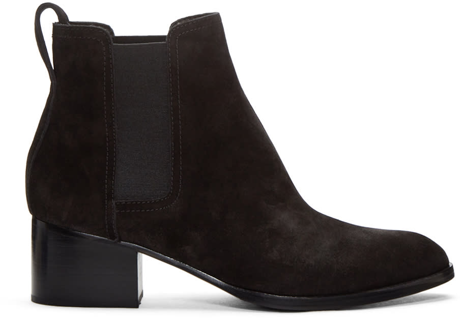 Rag and Bone Black Suede Walker Boots