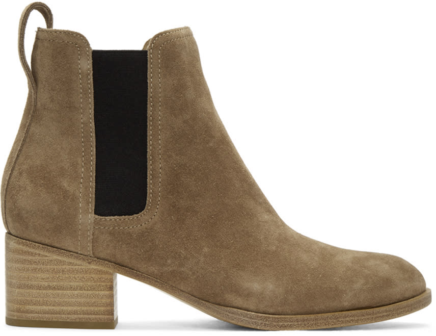 Rag and Bone Brown Suede Walker Boots
