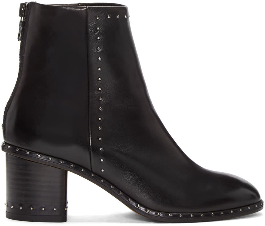 Rag and Bone Black Studded Willow Boots