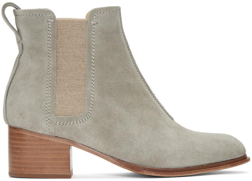 Rag and Bone Grey Suede Walker Ii Boots