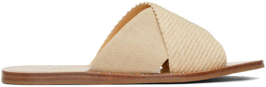 Rag and Bone Beige Keaton Slide Sandals