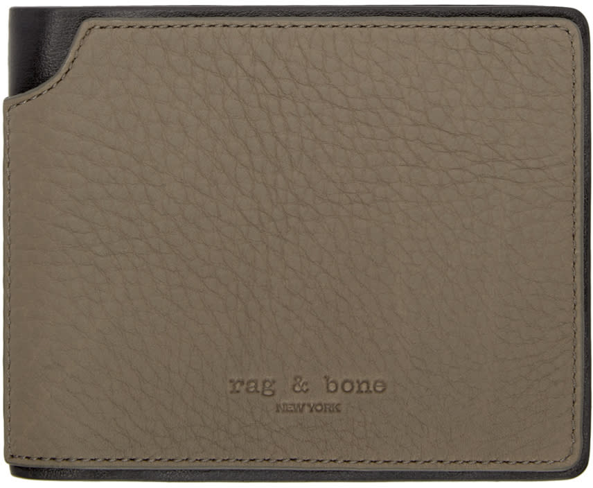 Rag and Bone Brown Bifold Wallet