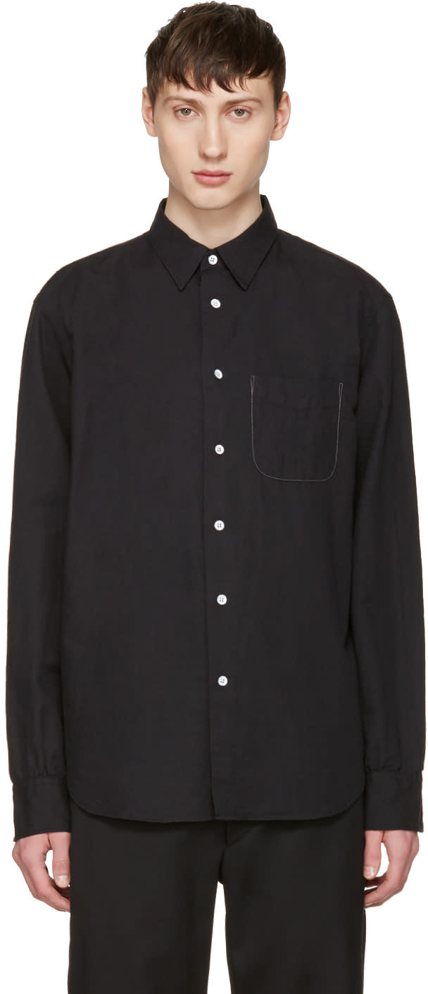 Rag and Bone Black Linen Beach Shirt