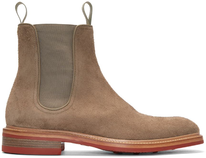 Rag and Bone Beige Suede Spencer Boots