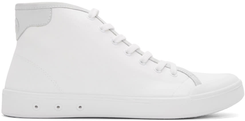Rag and Bone White Standard Issue High-top Sneakers