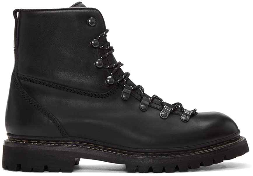Rag and Bone Black Vintage Hiker Boots