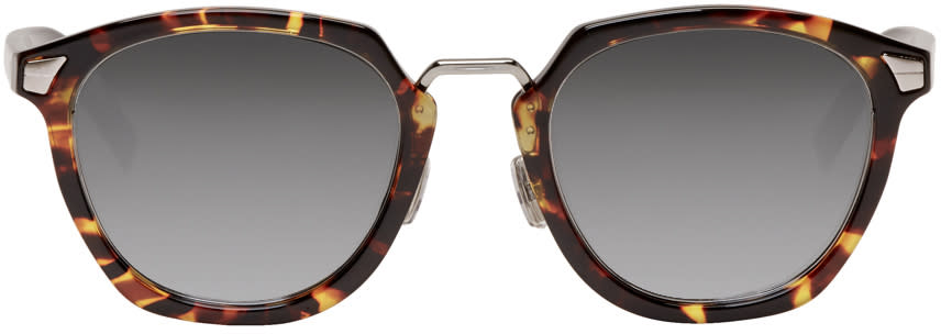 Dior Homme Brown Tortoiseshell dior Tailoring 1 Sunglasses