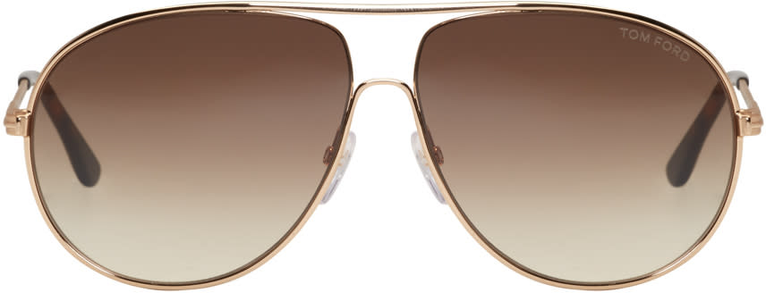 Tom Ford Gold Cliff Aviator Sunglasses