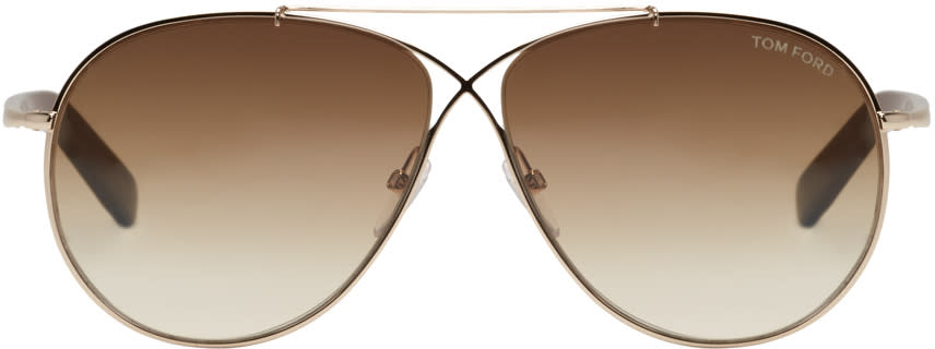 Tom Ford Gold Eva Sunglasses