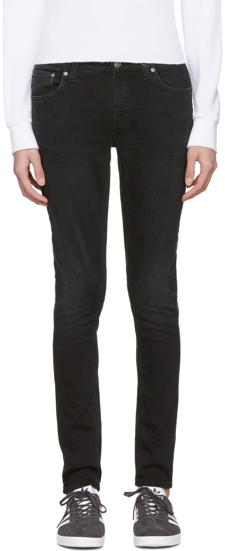 Nudie Jeans ブラック スキニー リン ジーンズ