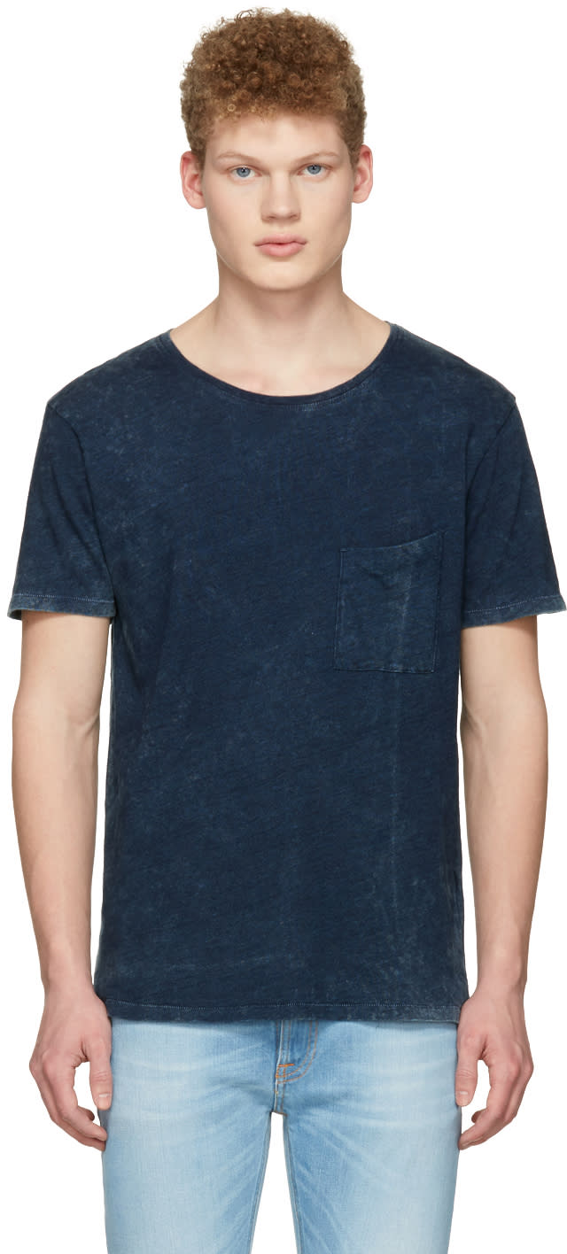 Nudie Jeans Indigo Ove Marble T-shirt