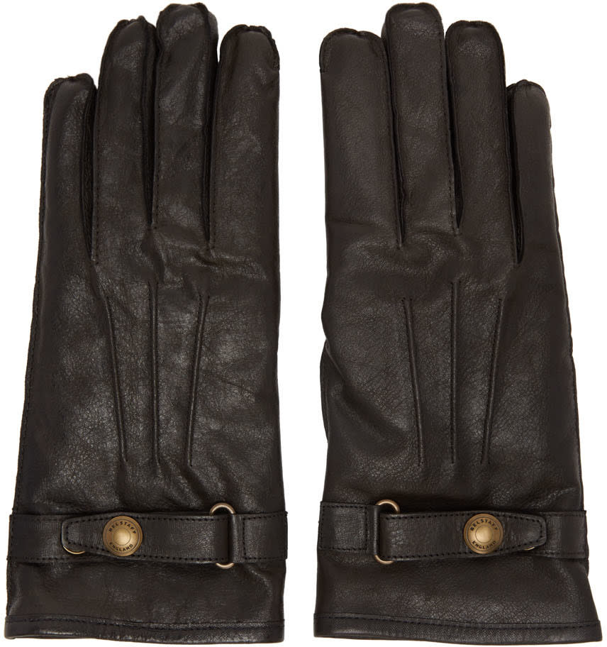 Belstaff Black Leather Heyford Gloves