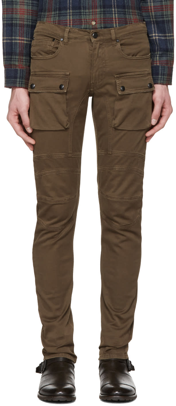 Belstaff Brown Felmore Biker Chinos