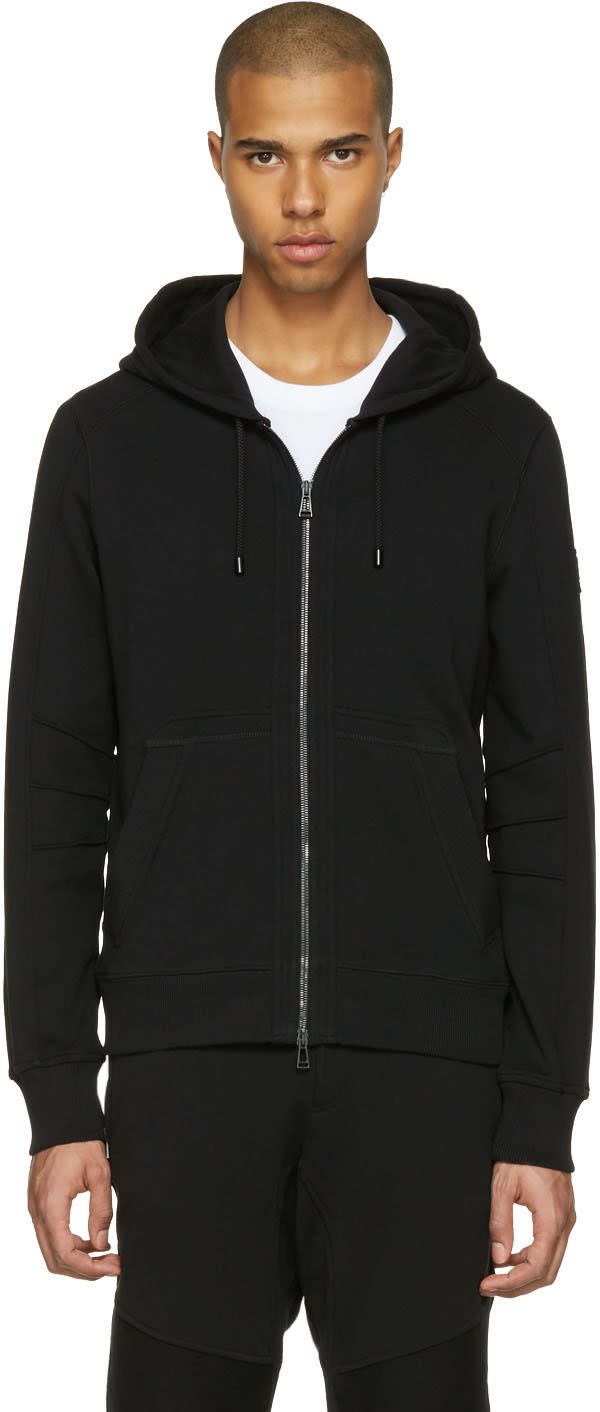 Belstaff Black Fleming Zip-up Hoodie