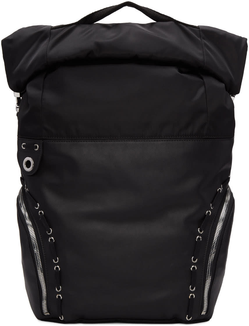 Image of Diesel Black Gold Black Hiking Backpack