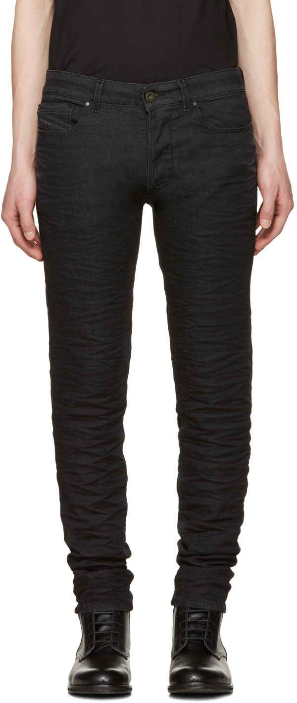 Image of Diesel Black Gold Black Knitted Type-2628 Jeans