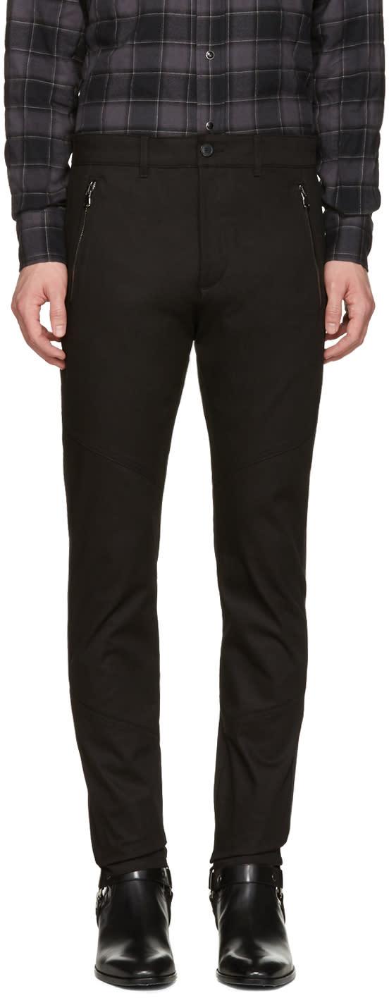 Diesel Black Gold Black Skinny Zip Trousers