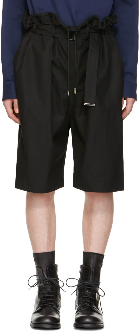 Image of Diesel Black Gold Black Drawstring Shorts