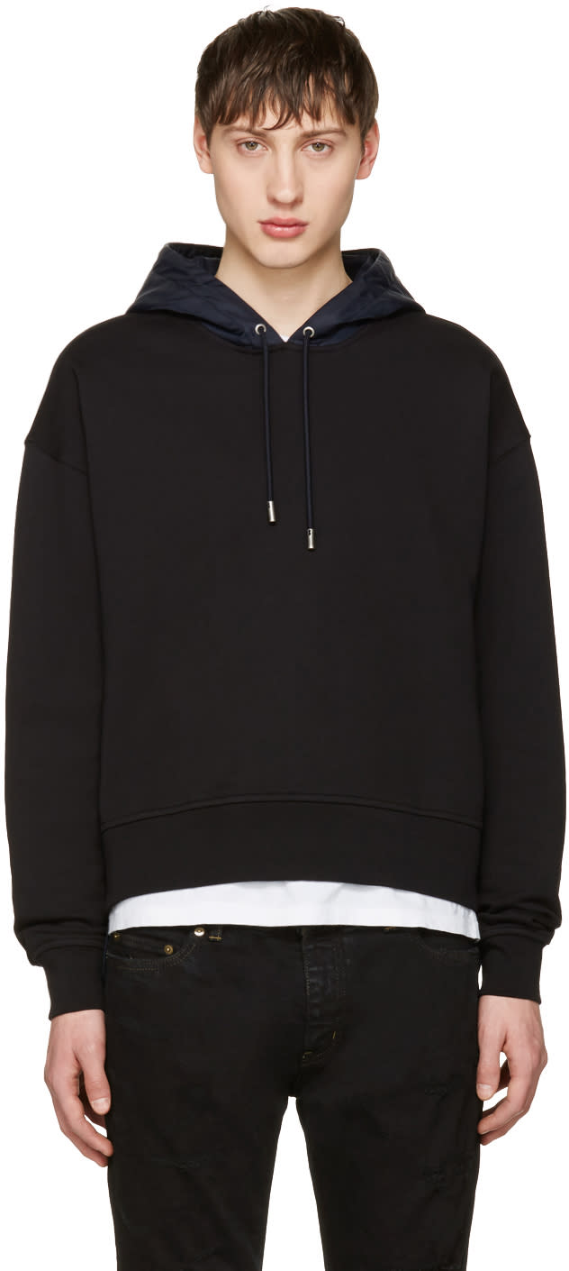 Image of Diesel Black Gold Black Boxy Zipper Hoodie