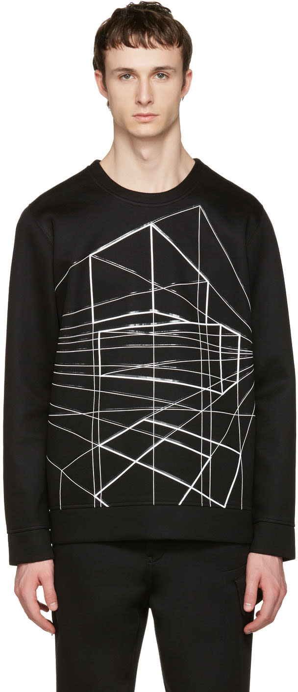 Image of Diesel Black Gold Black Geometric Pullover