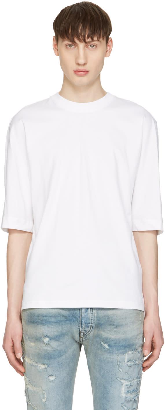 Diesel Black Gold White Poplin Back T-shirt