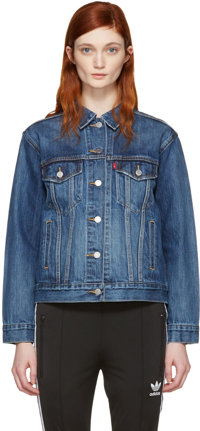 Levis Blue Ex-boyfriend Trucker Jacket