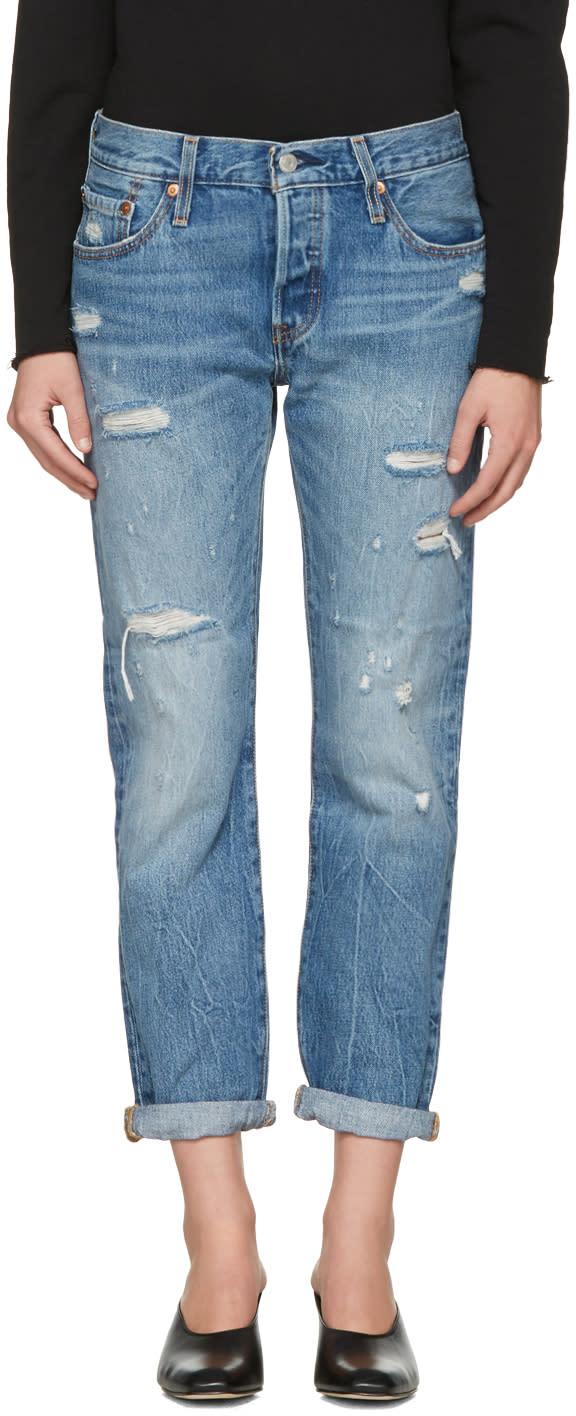 Levis Blue 501 Ct Jeans
