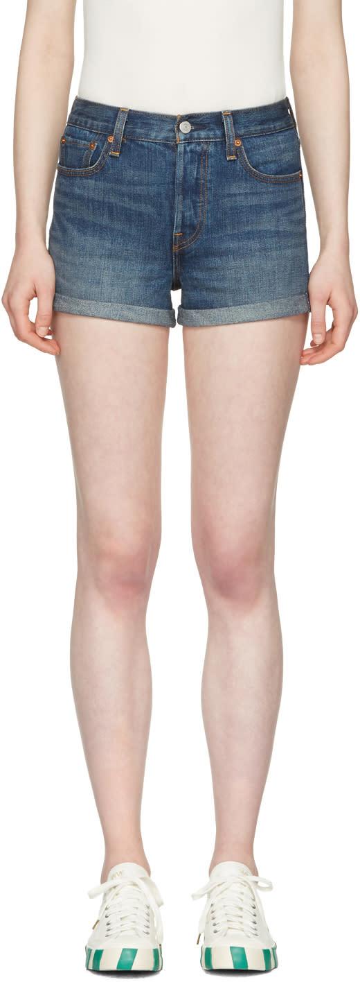 Levis Blue Denim Wedgie Fit Shorts