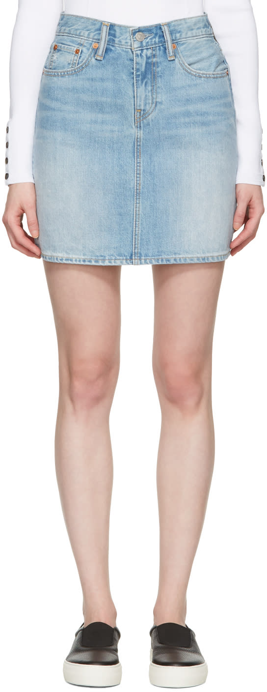 Levis Blue Denim Everyday Skirt