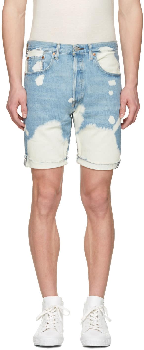 Levis Blue Denim 501 Ct Shorts