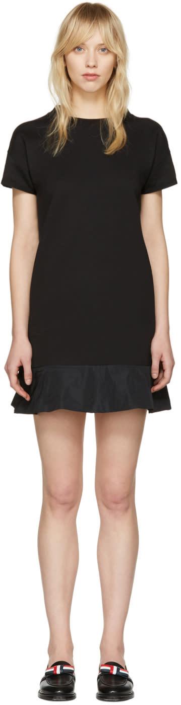 Moncler Black Peplum T-shirt Dress