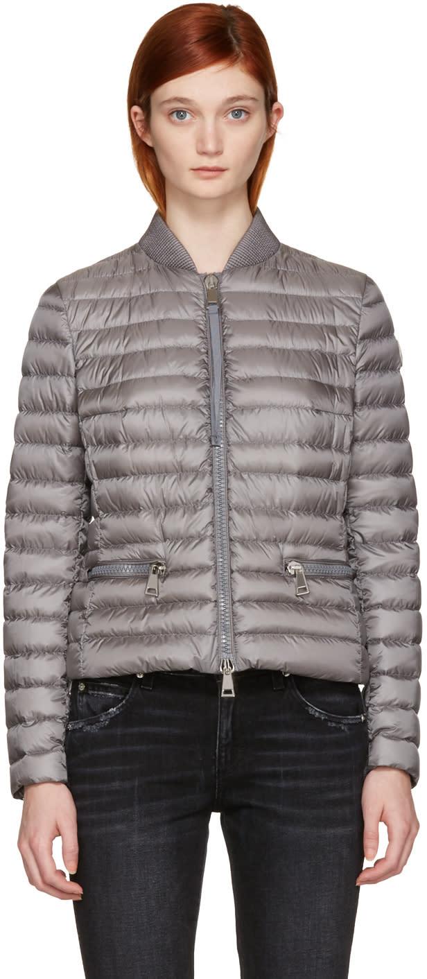 Moncler Grey Down Blen Jacket