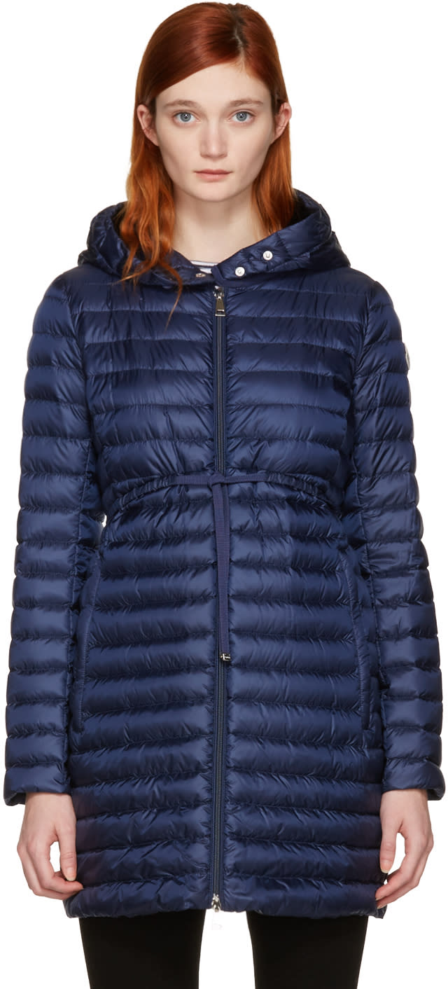 Moncler Navy Down Barbel Jacket
