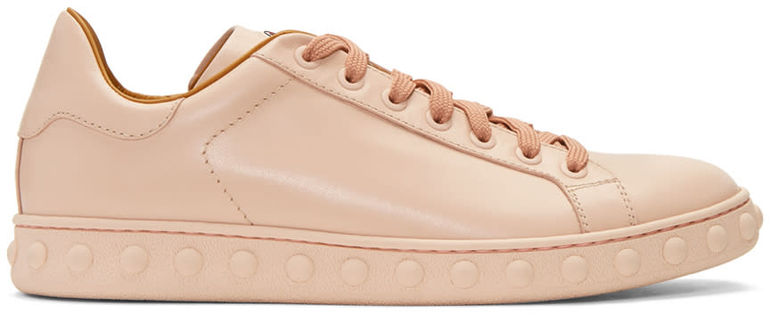 Moncler Pink Leather Fifi Sneakers
