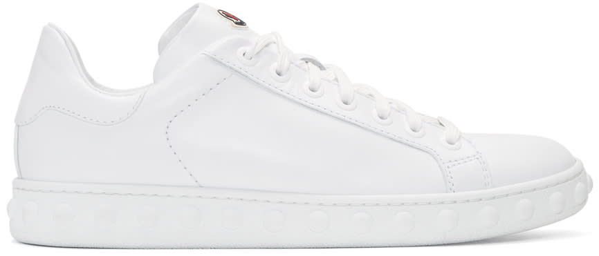 Moncler White Leather Fifi Sneakers
