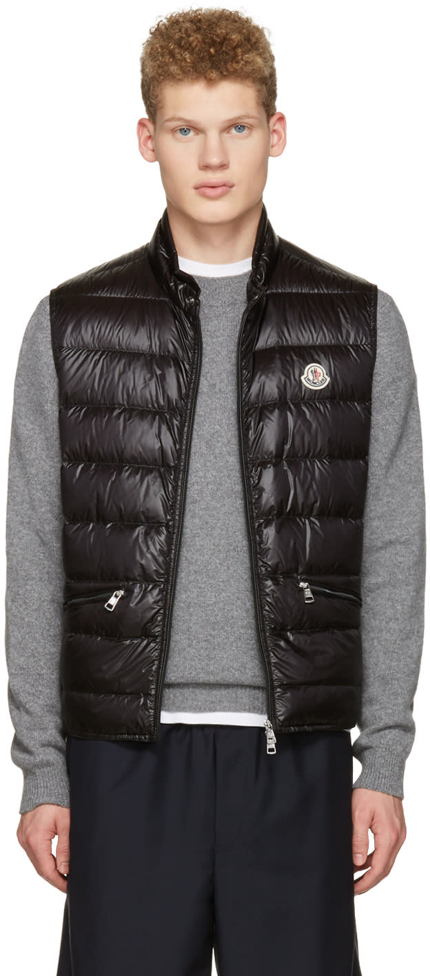 Moncler Black Down Gui Vest