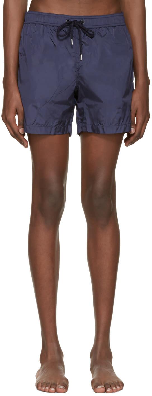 Moncler Navy Drawstring Swim Shorts