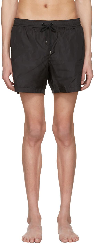 Moncler Black Drawstring Swim Shorts
