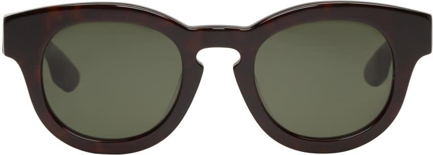 Mcq Alexander Mcqueen Black Round Bold Sunglasses