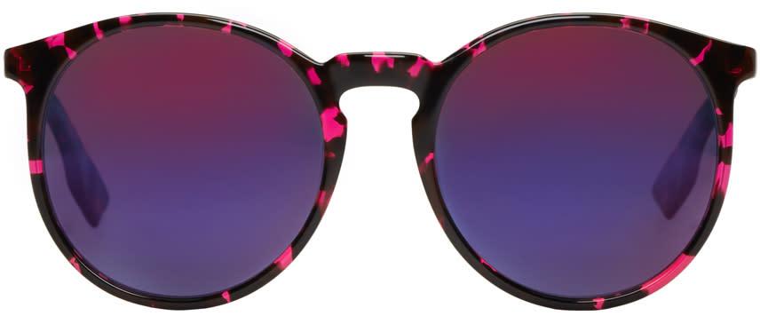 Mcq Alexander Mcqueen Pink Round Sunglasses