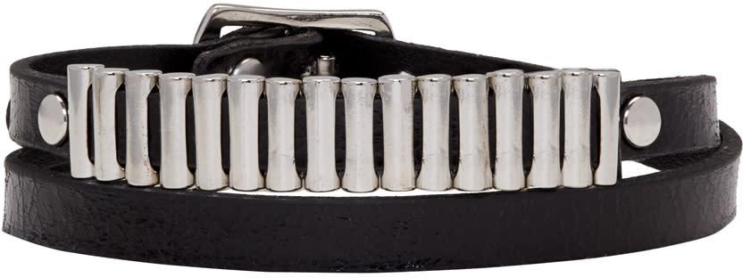 Mcq Alexander Mcqueen Black Bullet Mini Wrap Bracelet