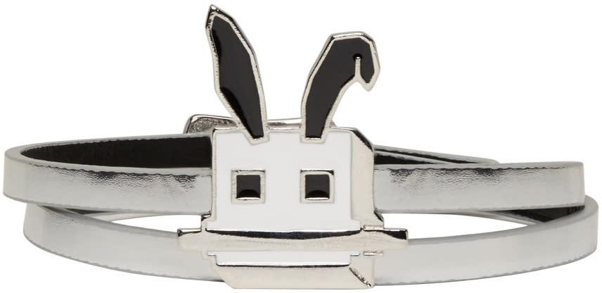 Mcq Alexander Mcqueen Silver Electro Bunny Mini Wrap Bracelet