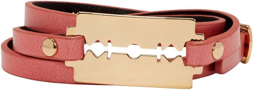 Mcq Alexander Mcqueen Pink Razor Triple Wrap Bracelet